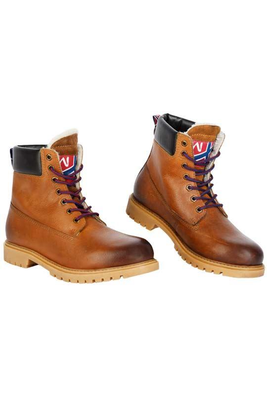 Winter boot HIBO Men braun-cognac