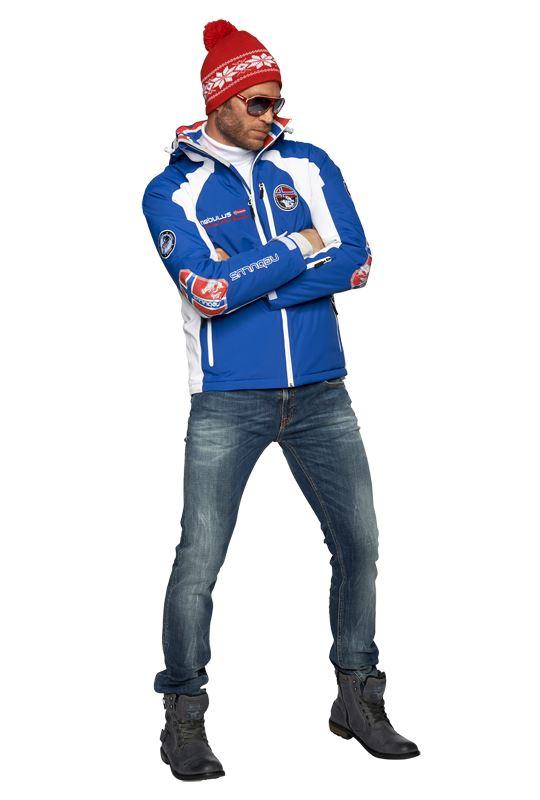 Skijacket MAESTRO SKI Men blau-weiß