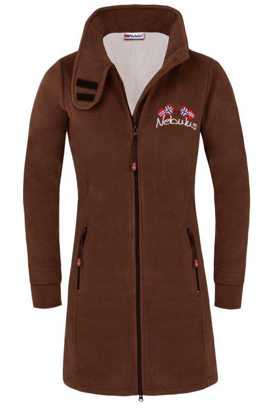 Fleece coat HAMBURG Women braun
