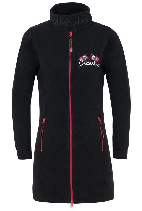 Fleece coat HAMBURG Women schwarz