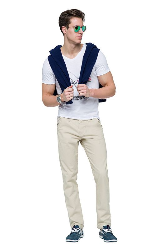 Cotton chino FUTURE Men beige