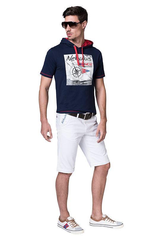 Cotton Hoody Shirt WAVES Men navy
