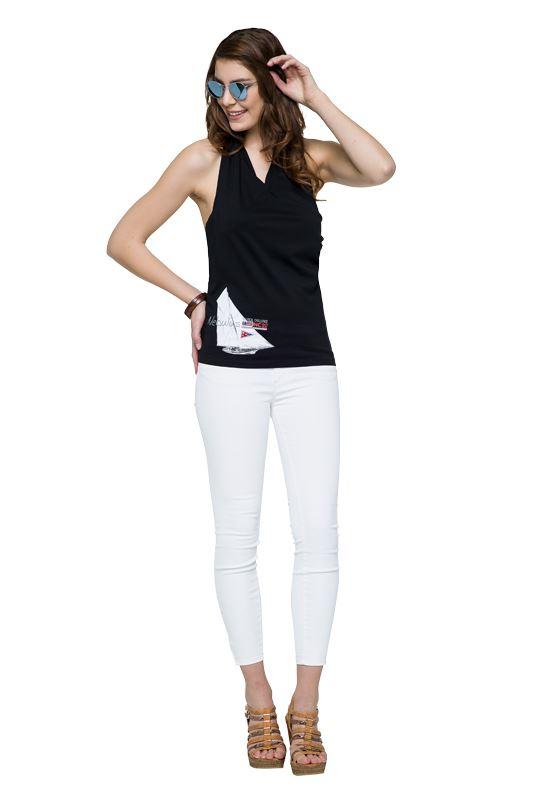 Cotton Neckholder SUNNY Women schwarz