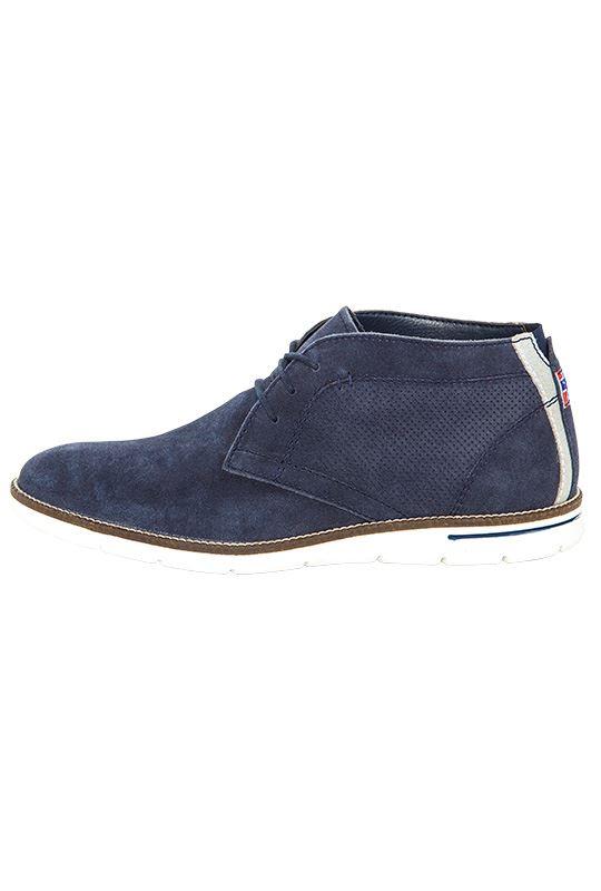 Leather shoes PLENTY Men navy_weiss