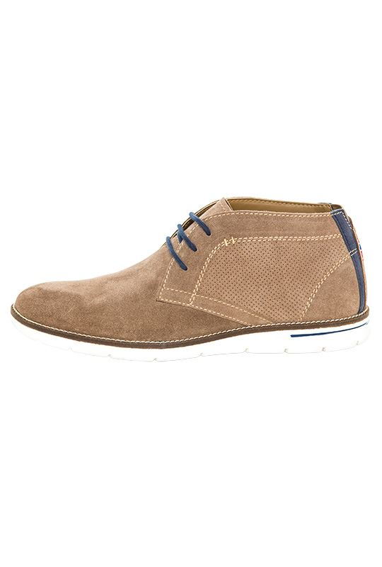 Leather shoes PLENTY Men taupe_navy