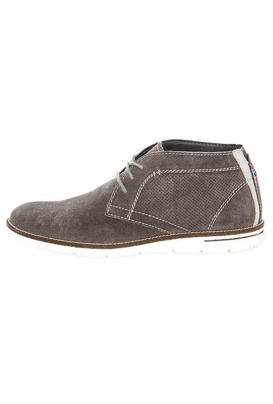 Leather shoes PLENTY Men grau_weiß