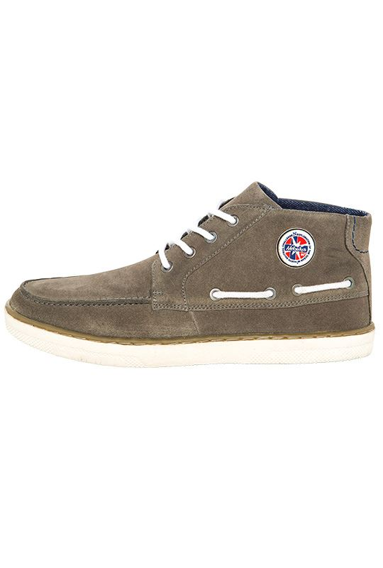 Boat shoes GLIDER Men grau_weiß