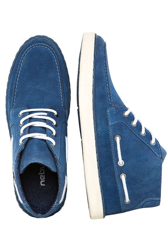 Boat shoes GLIDER Men denim_weiß