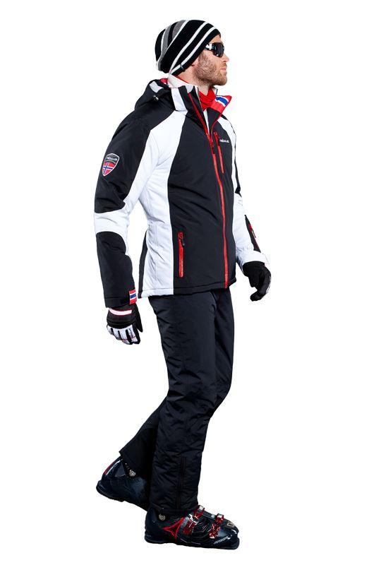 Ski jacket DAVOS Men schwarz-weiß