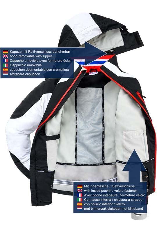 Ski jacket DAVOS Men weiss-schwarz