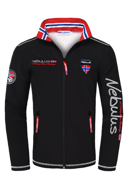 Softshell jacket STYLER FUR Men schwarz