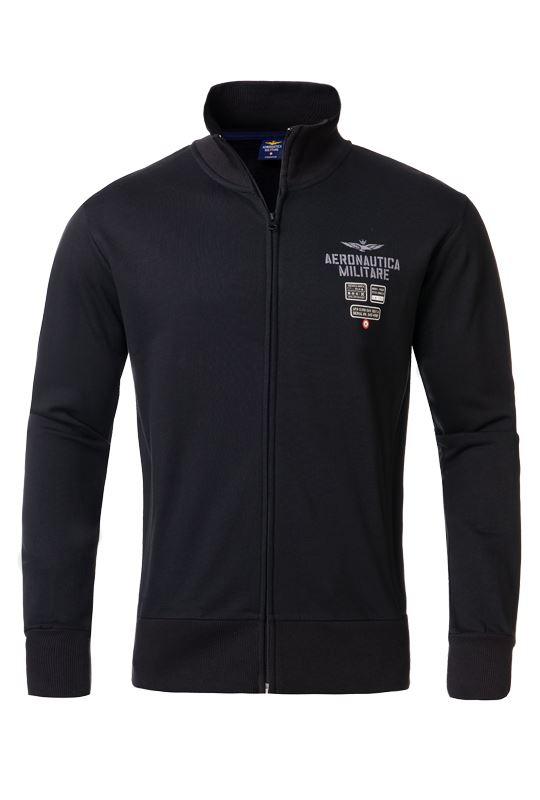 Aeronautica Militare Sweatshirt jacket Men schwarz