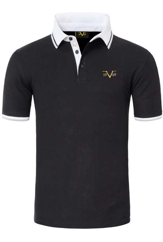 19V69 Polo shirt Men black