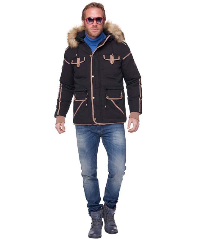 Winterparka BELFORT Herren schwarz