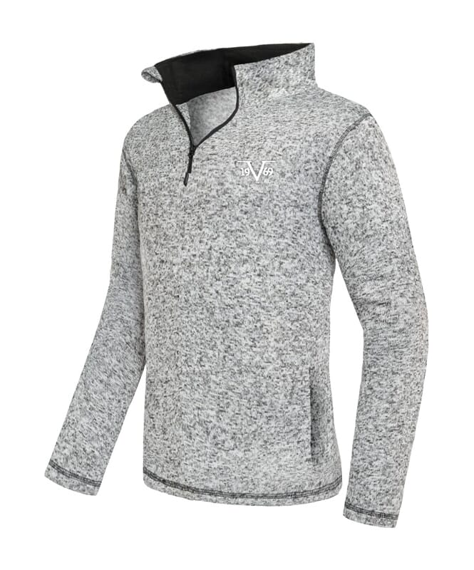 19V69 Fleece Pullover Herren anthrazit