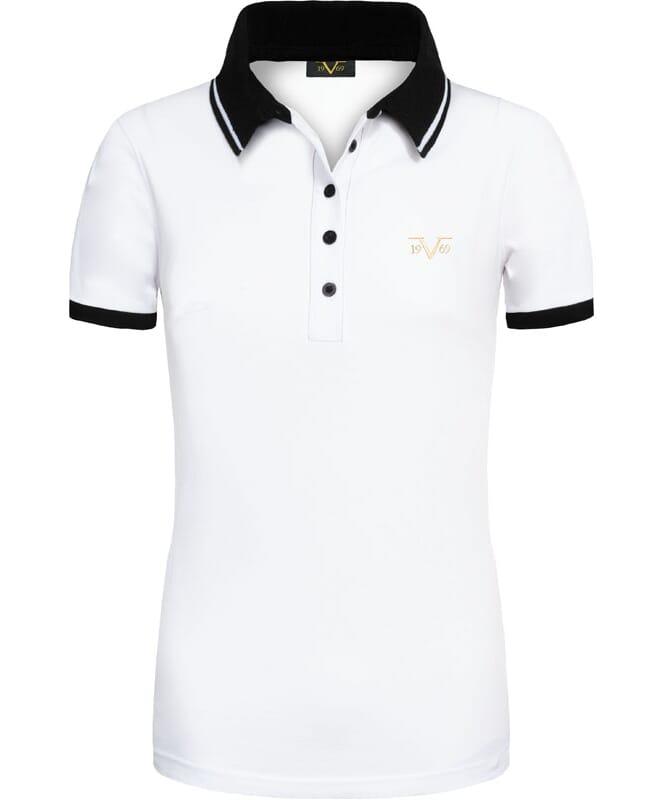 19V69 Poloshirt Damen weiß