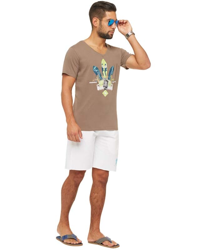 Summerfresh T-Shirt COCKTAIL Herren braun