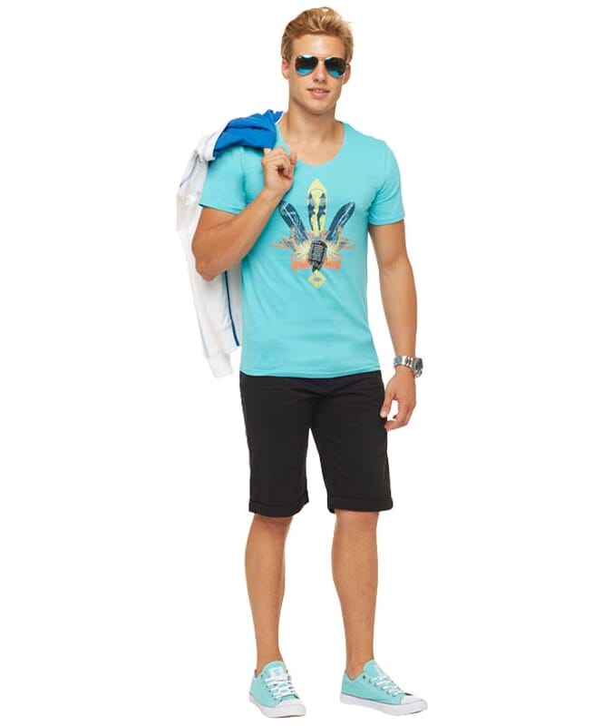 Summerfresh T-Shirt COCKTAIL Herren hellblau