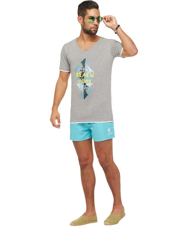 Summerfresh T-Shirt CALIFORNIA Herren grau