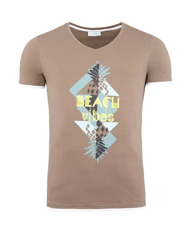 Summerfresh T-Shirt CALIFORNIA Herren braun