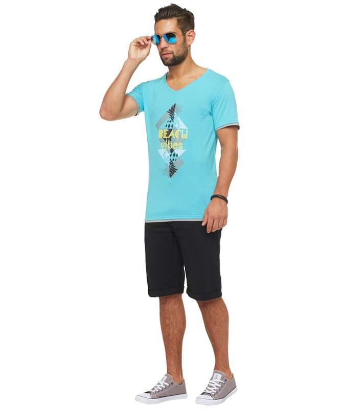Summerfresh T-Shirt CALIFORNIA Herren hellblau