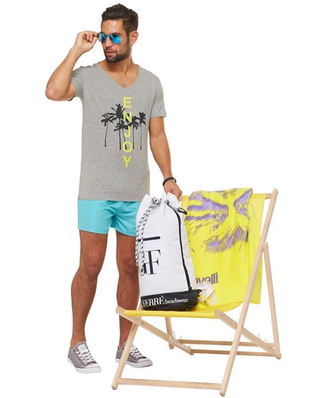 Summerfresh T-Shirt SPLASH Herren grau