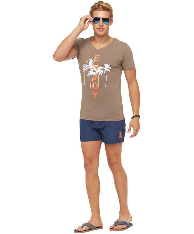 Summerfresh T-Shirt SPLASH Herren braun