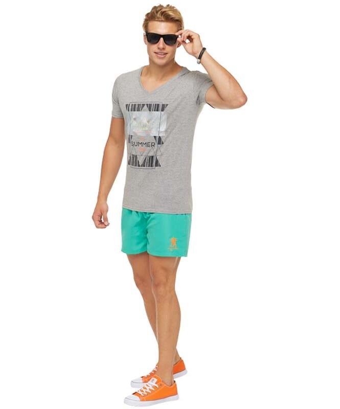 Summerfresh T-Shirt BOARDING Herren grau