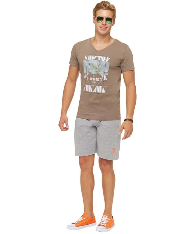 Summerfresh T-Shirt BOARDING Herren hellbraun