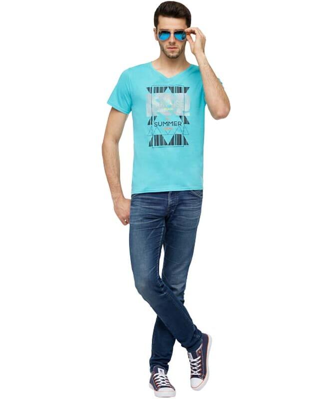 Summerfresh T-Shirt BOARDING Herren hellblau
