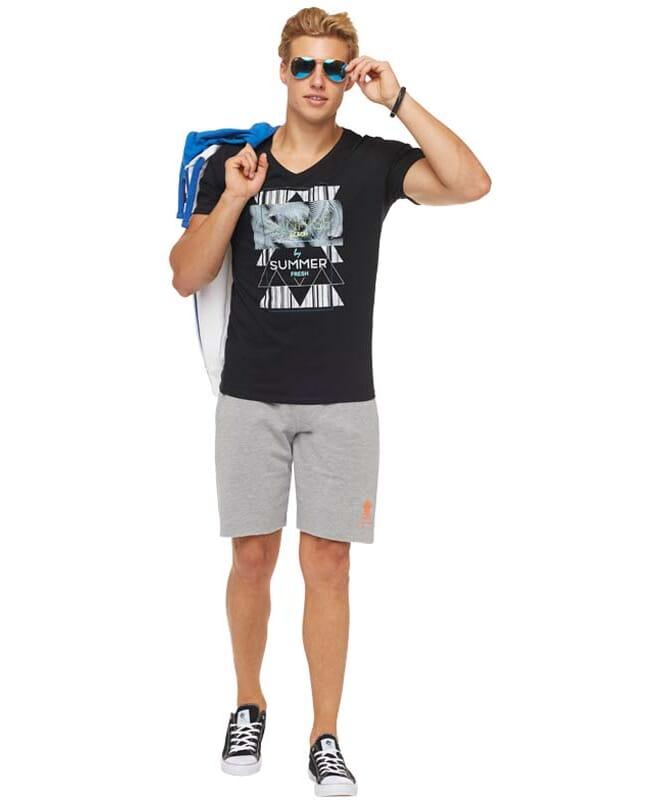 Summerfresh T-Shirt BOARDING Herren schwarz