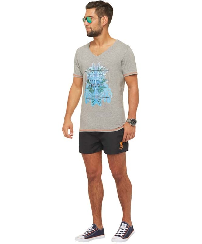 Summerfresh T-Shirt CLIFF Herren grau