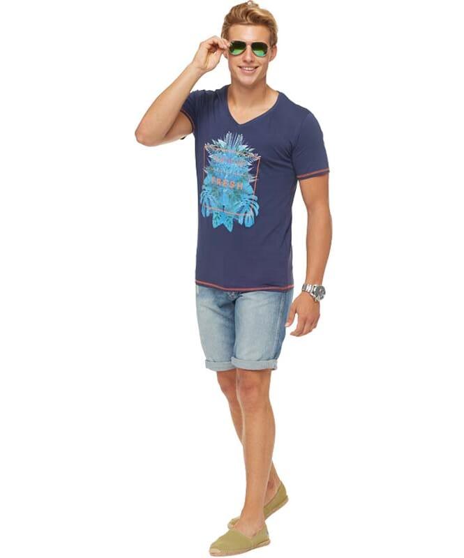 Summerfresh T-Shirt CLIFF Herren navy