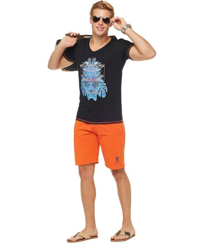 Summerfresh T-Shirt CLIFF Herren schwarz