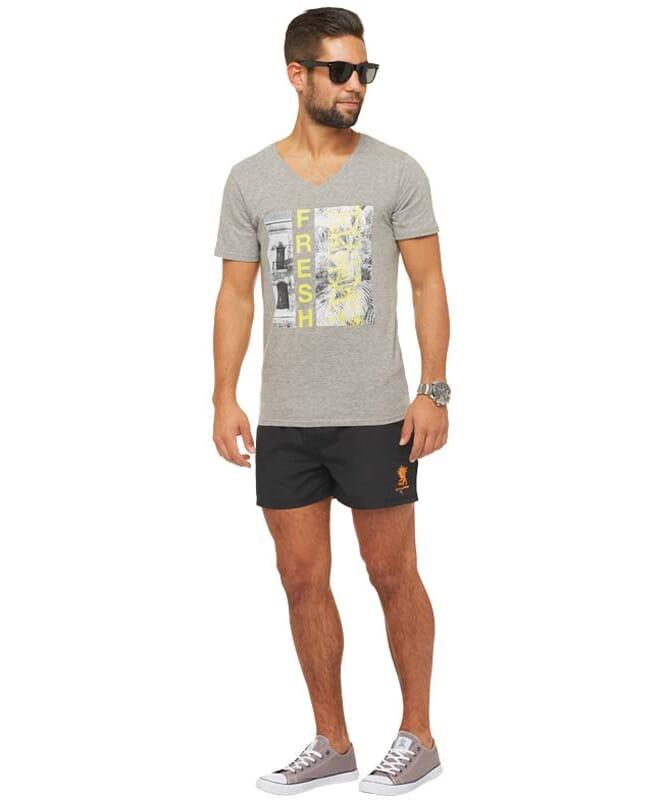 Summerfresh T-Shirt PARADISE Herren grau