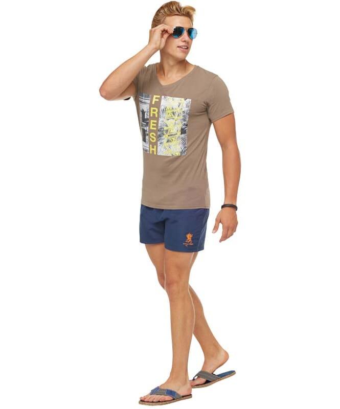 Summerfresh T-Shirt PARADISE Herren hellbraun