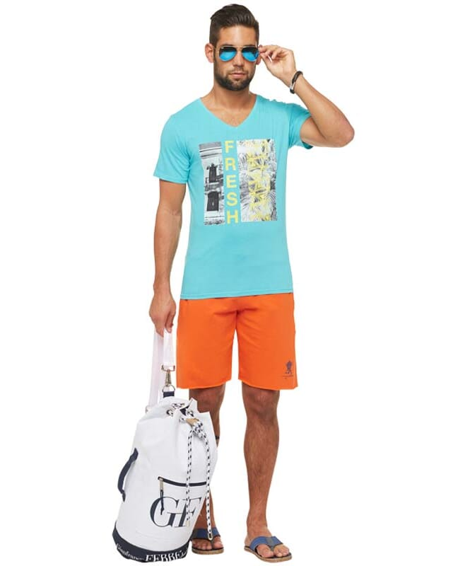 Summerfresh T-Shirt PARADISE Herren hellblau