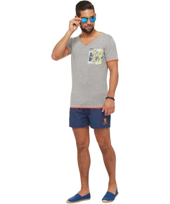Summerfresh T-Shirt FLORIDA Herren grau