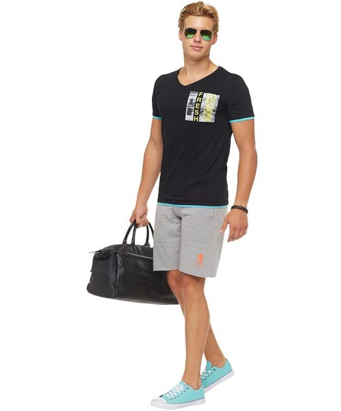 Summerfresh T-Shirt FLORIDA Herren schwarz