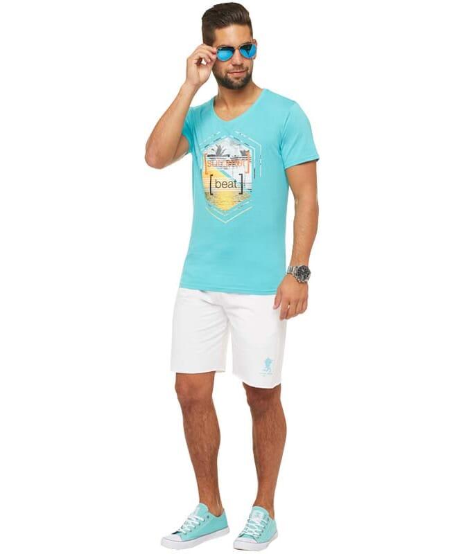 Summerfresh T-Shirt BRASIL Herren hellblau