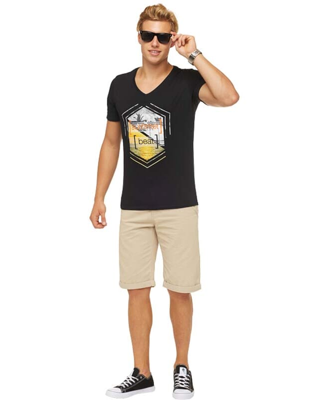 Summerfresh T-Shirt BRASIL Herren schwarz