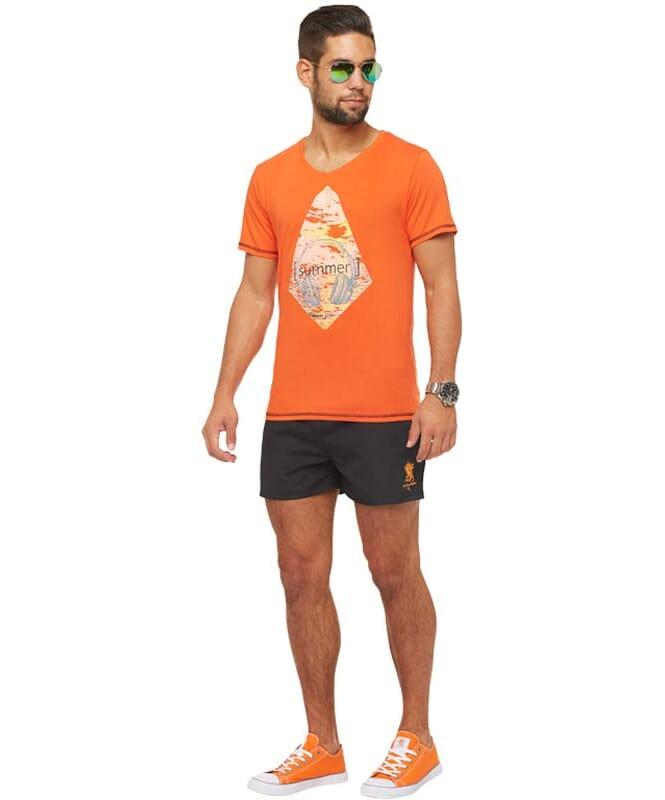 Summerfresh T-Shirt FLORIS Herren orange