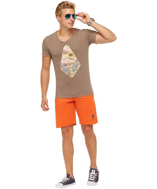 Summerfresh T-Shirt FLORIS Herren hellbraun