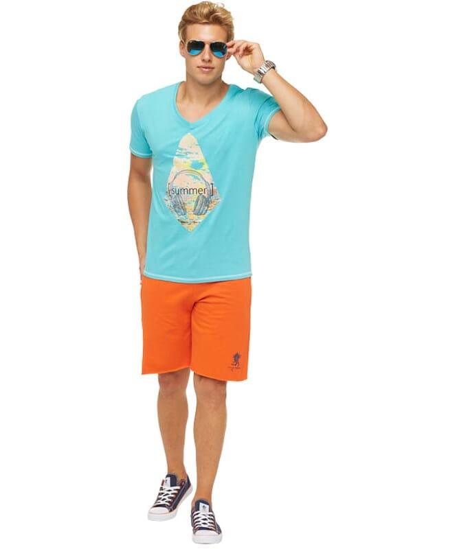 Summerfresh T-Shirt FLORIS Herren hellblau