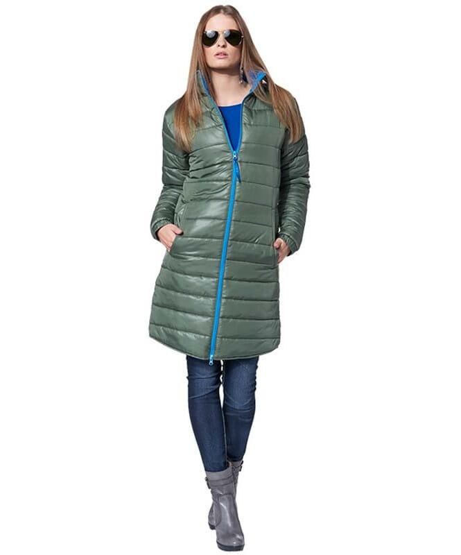 MALEXXIUS Wintermantel JULIA Damen olive-blau