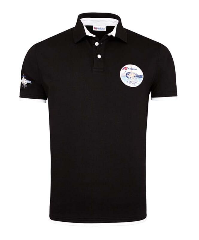 Poloshirt OCEAN-BLUE Herren deep-black