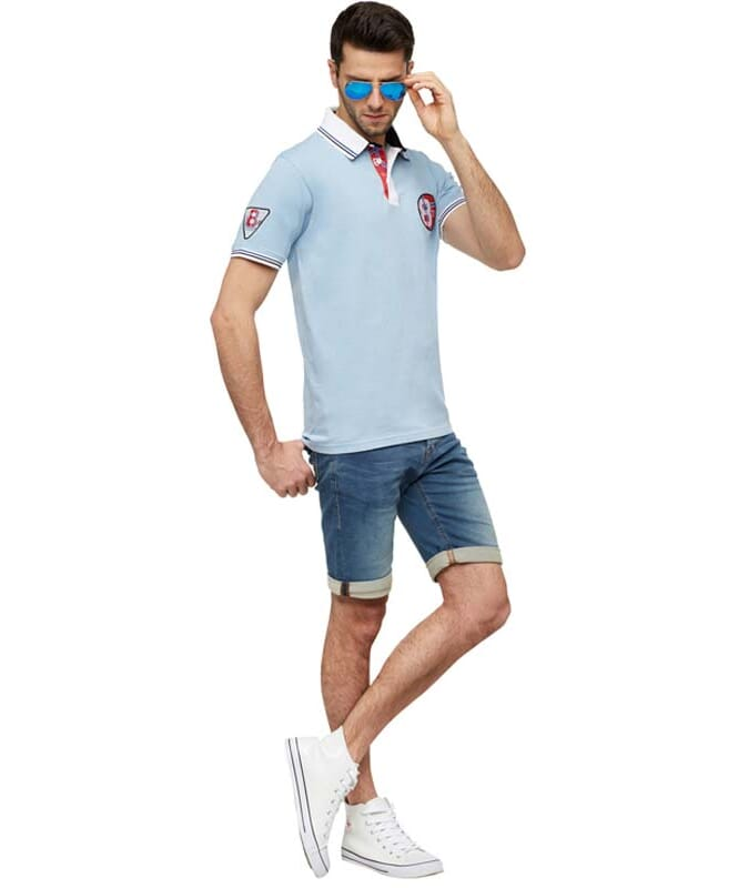 Polo-Shirt LAUX Herren lightblue