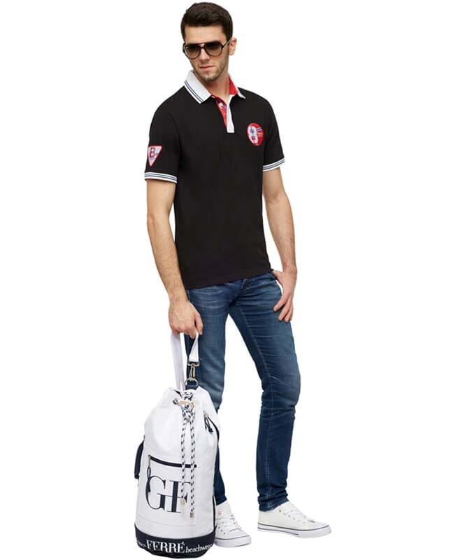 Polo-Shirt LAUX Herren black