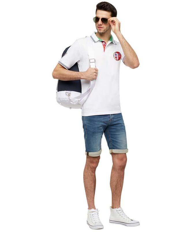 Polo-Shirt LAUX Herren weiß