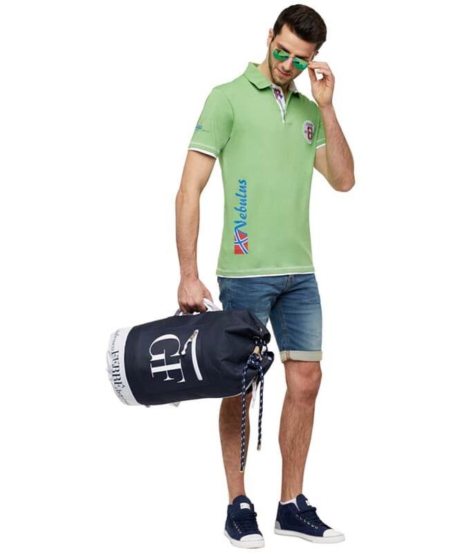Polo-Shirt ORANGE Herren grün